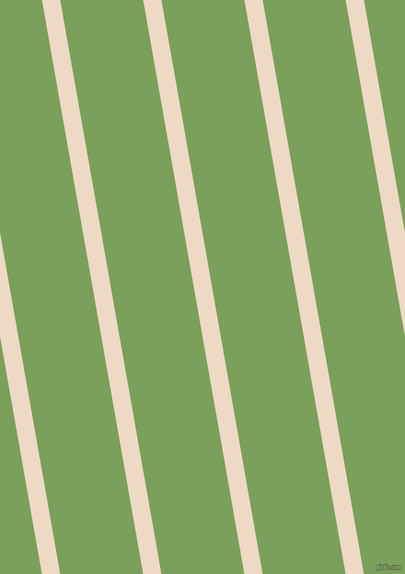 100 degree angle lines stripes, 26 pixel line width, 118 pixel line spacing, Almond and Asparagus angled lines and stripes seamless tileable