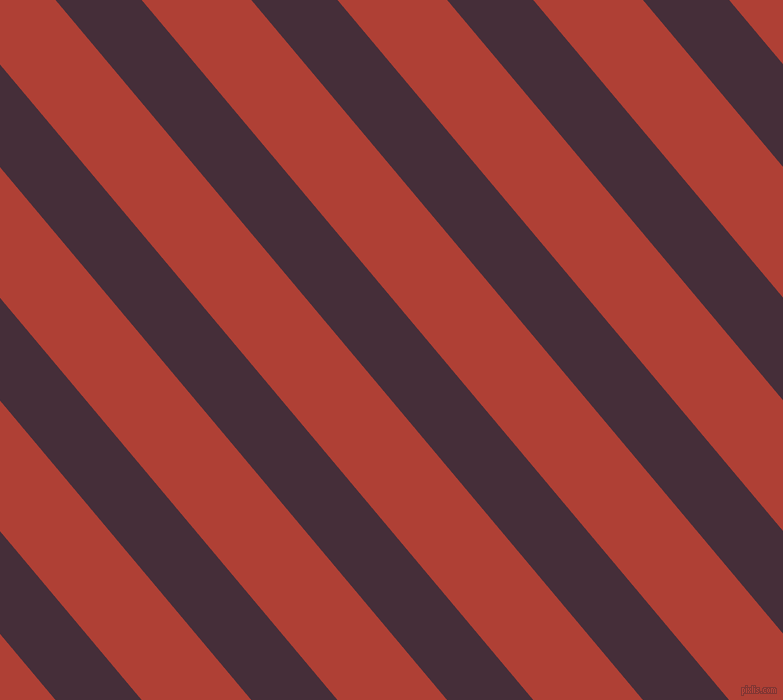 130 degree angle lines stripes, 66 pixel line width, 84 pixel line spacing, Barossa and Medium Carmine angled lines and stripes seamless tileable