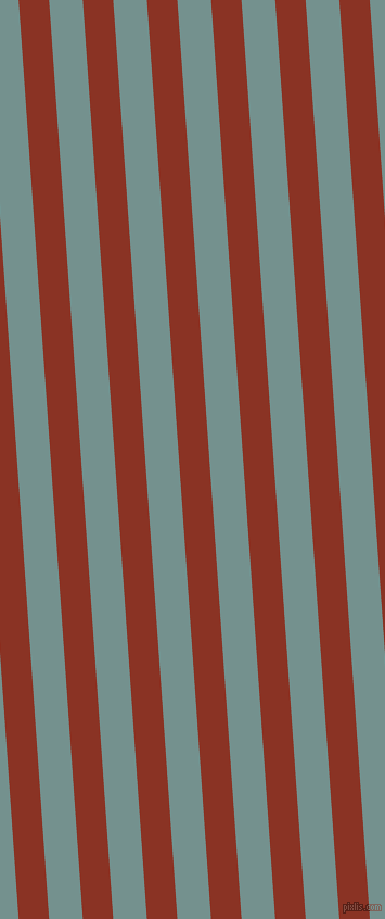 94 degree angle lines stripes, 28 pixel line width, 31 pixel line spacing, Burnt Umber and Juniper angled lines and stripes seamless tileable