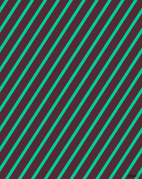 57 degree angle lines stripes, 10 pixel line width, 26 pixel line spacing, Caribbean Green and Wine Berry angled lines and stripes seamless tileable