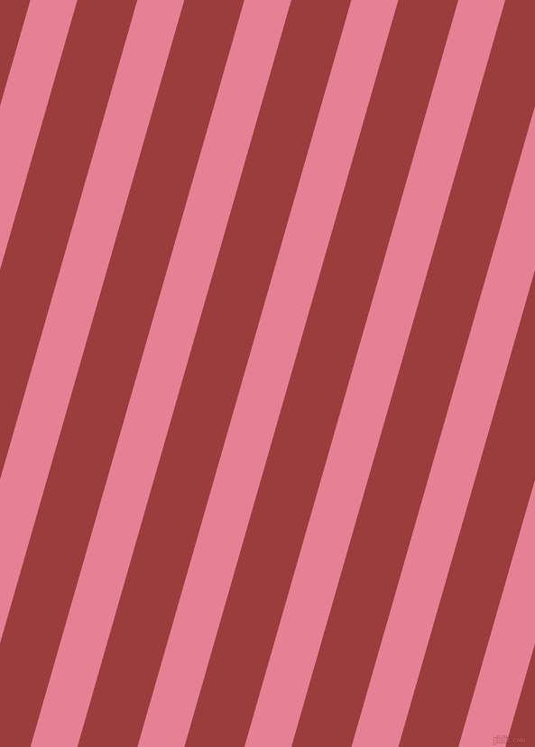 74 degree angle lines stripes, 50 pixel line width, 64 pixel line spacing, Carissma and Mexican Red angled lines and stripes seamless tileable