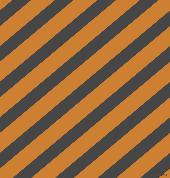 40 degree angle lines stripes, 39 pixel line width, 50 pixel line spacing, Charcoal and Bronze angled lines and stripes seamless tileable