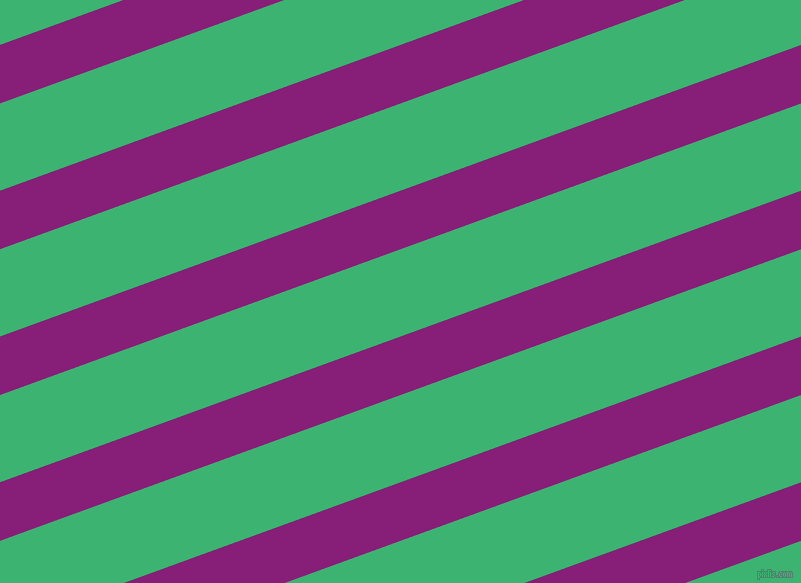 20 degree angle lines stripes, 55 pixel line width, 82 pixel line spacing, Dark Purple and Medium Sea Green angled lines and stripes seamless tileable