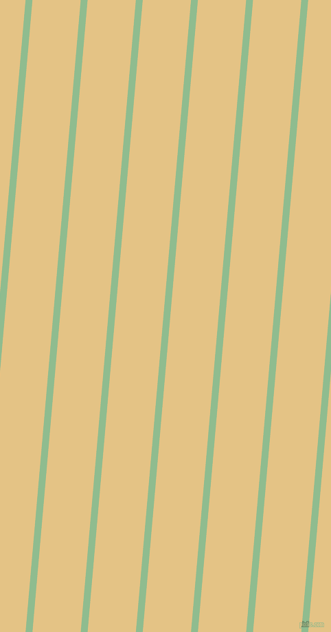 85 degree angle lines stripes, 10 pixel line width, 70 pixel line spacing, Dark Sea Green and New Orleans angled lines and stripes seamless tileable