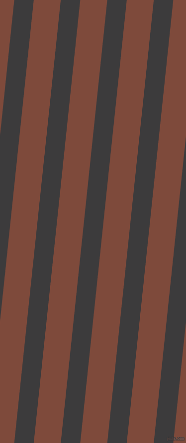 84 degree angle lines stripes, 39 pixel line width, 54 pixel line spacing, Fuscous Grey and Nutmeg angled lines and stripes seamless tileable
