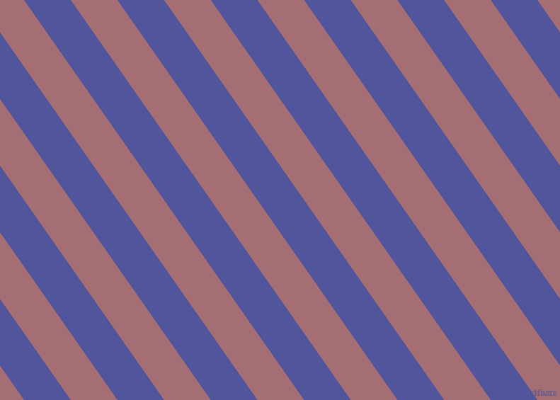 125 degree angle lines stripes, 54 pixel line width, 54 pixel line spacing, Governor Bay and Turkish Rose angled lines and stripes seamless tileable