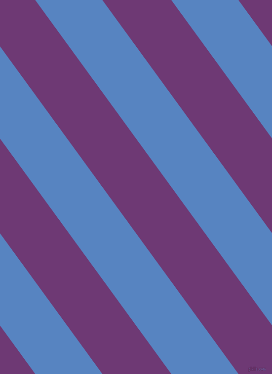 126 degree angle lines stripes, 110 pixel line width, 113 pixel line spacing, Havelock Blue and Eminence angled lines and stripes seamless tileable