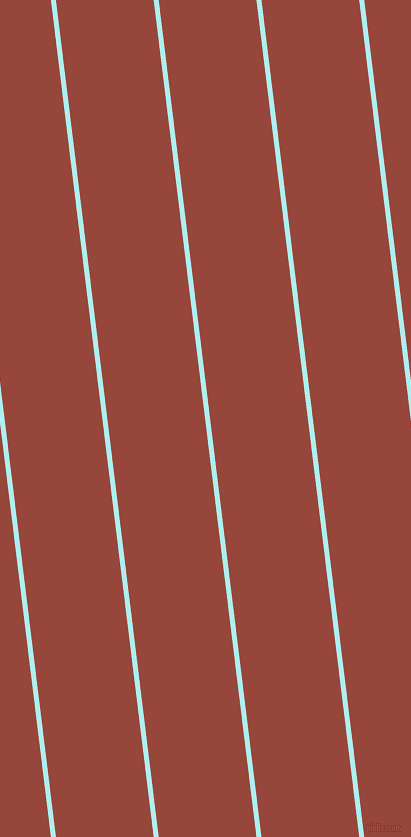 97 degree angle lines stripes, 5 pixel line width, 97 pixel line spacing, Pale Turquoise and Mojo angled lines and stripes seamless tileable