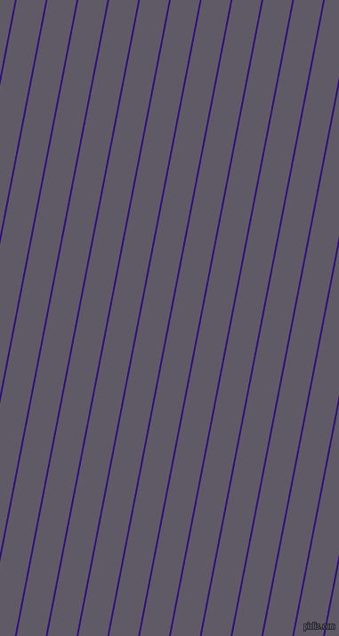 79 degree angle lines stripes, 2 pixel line width, 32 pixel line spacing, Persian Indigo and Mobster angled lines and stripes seamless tileable
