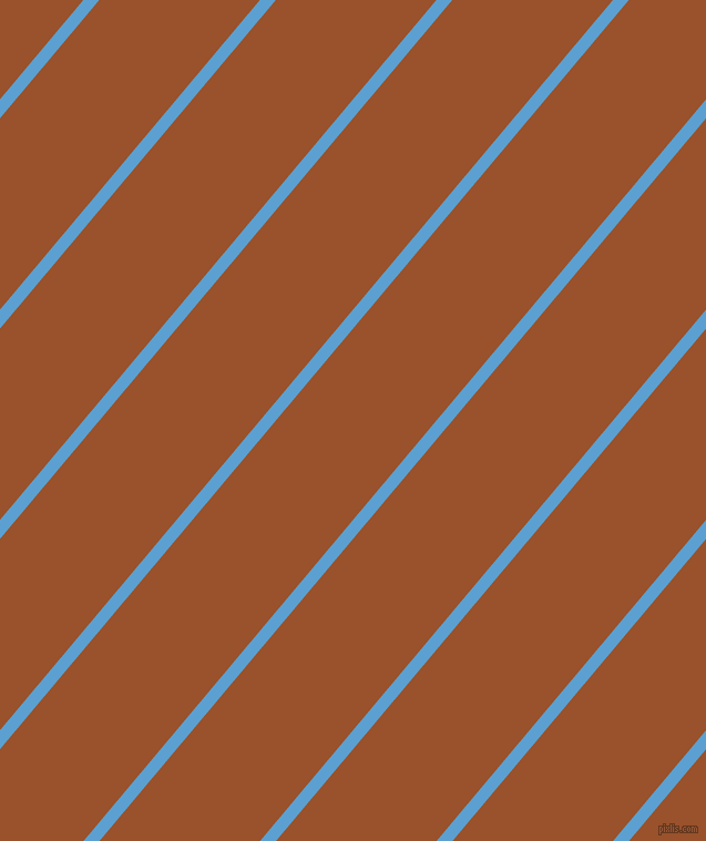 50 degree angle lines stripes, 11 pixel line width, 111 pixel line spacing, Picton Blue and Hawaiian Tan angled lines and stripes seamless tileable