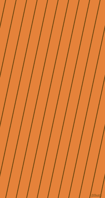 78 degree angle lines stripes, 3 pixel line width, 33 pixel line spacing, Raw Umber and West Side angled lines and stripes seamless tileable