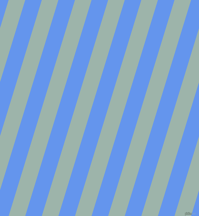 73 degree angle lines stripes, 53 pixel line width, 53 pixel line spacing, Skeptic and Cornflower Blue angled lines and stripes seamless tileable