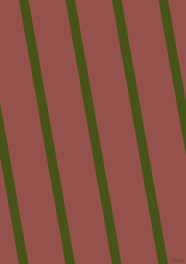 100 degree angle lines stripes, 30 pixel line width, 116 pixel line spacing, Verdun Green and Copper Rust angled lines and stripes seamless tileable