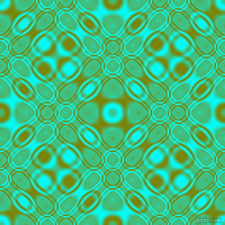 Aqua and Olive cellular plasma seamless tileable