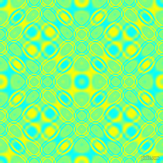 , Aqua and Yellow cellular plasma seamless tileable