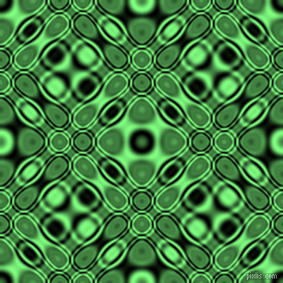 , Black and Mint Green cellular plasma seamless tileable