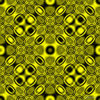 , Black and Yellow cellular plasma seamless tileable
