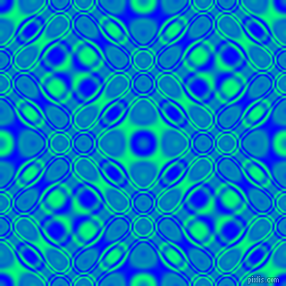 , Blue and Spring Green cellular plasma seamless tileable