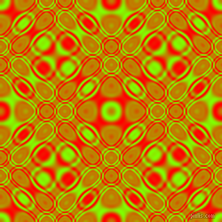 Chartreuse and Red cellular plasma seamless tileable