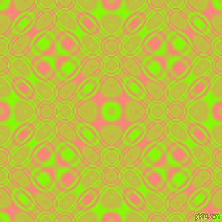 , Chartreuse and Salmon cellular plasma seamless tileable