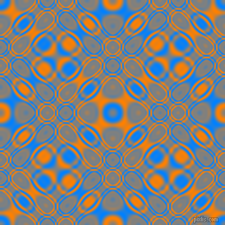 , Dodger Blue and Dark Orange cellular plasma seamless tileable