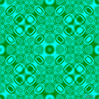 Green and Aqua cellular plasma seamless tileable