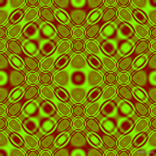 , Maroon and Chartreuse cellular plasma seamless tileable