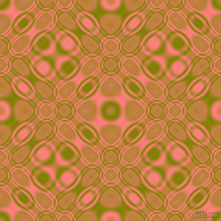 Olive and Salmon cellular plasma seamless tileable