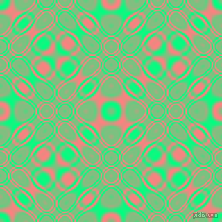 Spring Green and Salmon cellular plasma seamless tileable