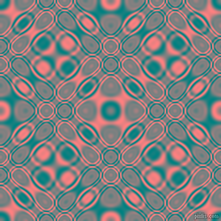 , Teal and Salmon cellular plasma seamless tileable