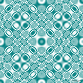 , Teal and White cellular plasma seamless tileable
