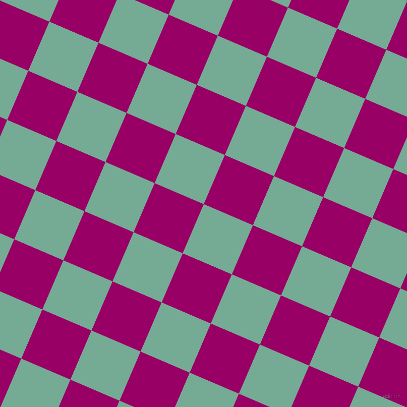 67/157 degree angle diagonal checkered chequered squares checker pattern checkers background, 106 pixel square size, , Acapulco and Eggplant checkers chequered checkered squares seamless tileable