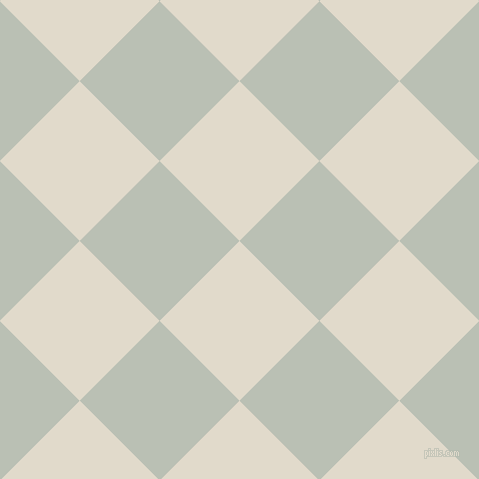 45/135 degree angle diagonal checkered chequered squares checker pattern checkers background, 113 pixel squares size, , Albescent White and Pumice checkers chequered checkered squares seamless tileable