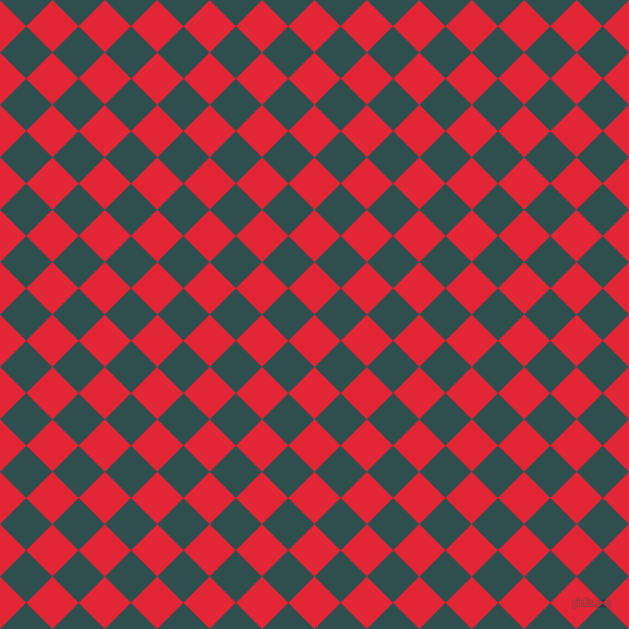 45/135 degree angle diagonal checkered chequered squares checker pattern checkers background, 34 pixel squares size, , Alizarin and Dark Slate Grey checkers chequered checkered squares seamless tileable