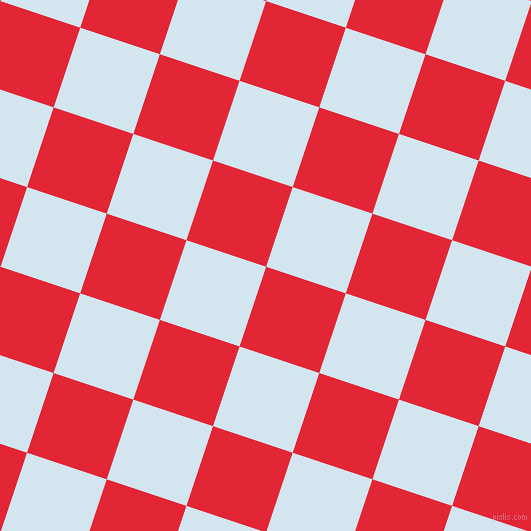 72/162 degree angle diagonal checkered chequered squares checker pattern checkers background, 84 pixel square size, , Alizarin and Pattens Blue checkers chequered checkered squares seamless tileable