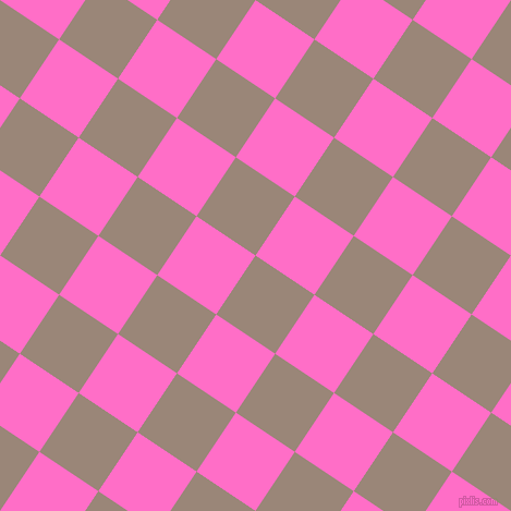 56/146 degree angle diagonal checkered chequered squares checker pattern checkers background, 65 pixel square size, , Almond Frost and Neon Pink checkers chequered checkered squares seamless tileable