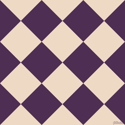 45/135 degree angle diagonal checkered chequered squares checker pattern checkers background, 102 pixel squares size, , Almond and Hot Purple checkers chequered checkered squares seamless tileable