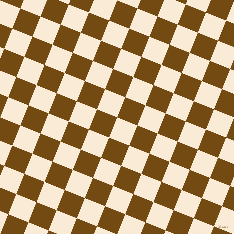 68/158 degree angle diagonal checkered chequered squares checker pattern checkers background, 74 pixel squares size, , Antique White and Raw Umber checkers chequered checkered squares seamless tileable
