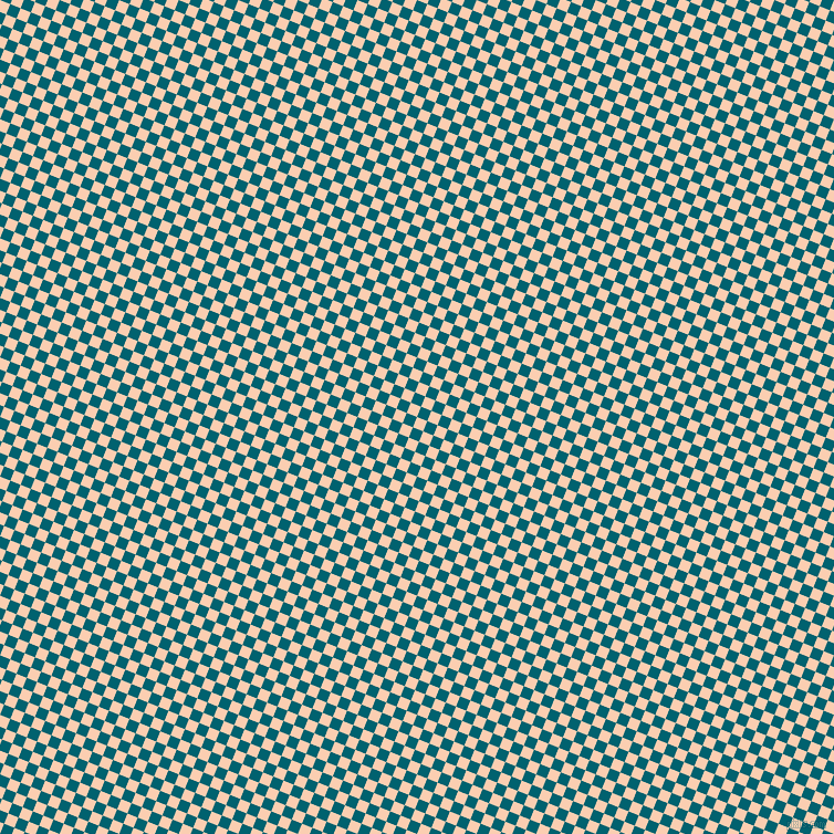 68/158 degree angle diagonal checkered chequered squares checker pattern checkers background, 10 pixel square size, , Apricot and Blue Lagoon checkers chequered checkered squares seamless tileable