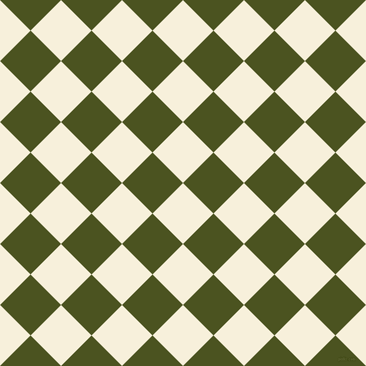 45/135 degree angle diagonal checkered chequered squares checker pattern checkers background, 88 pixel square size, , Apricot White and Army green checkers chequered checkered squares seamless tileable