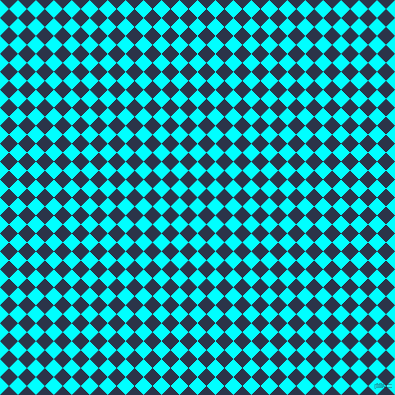45/135 degree angle diagonal checkered chequered squares checker pattern checkers background, 26 pixel square size, , Aqua and Bunting checkers chequered checkered squares seamless tileable