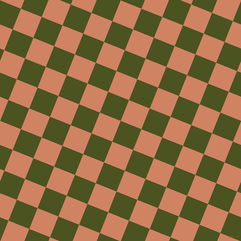 68/158 degree angle diagonal checkered chequered squares checker pattern checkers background, 74 pixel square size, , Army green and Burning Sand checkers chequered checkered squares seamless tileable