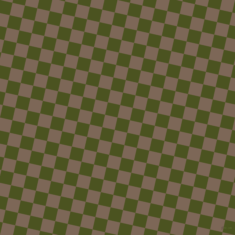 77/167 degree angle diagonal checkered chequered squares checker pattern checkers background, 43 pixel square size, , Army green and Roman Coffee checkers chequered checkered squares seamless tileable