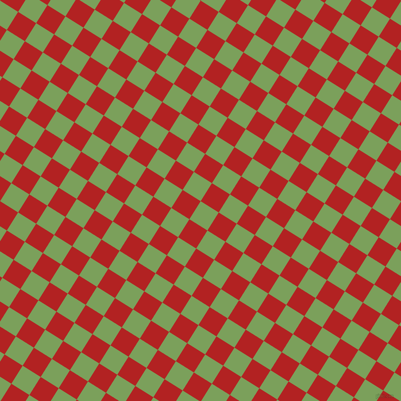 58/148 degree angle diagonal checkered chequered squares checker pattern checkers background, 43 pixel squares size, , Asparagus and Fire Brick checkers chequered checkered squares seamless tileable