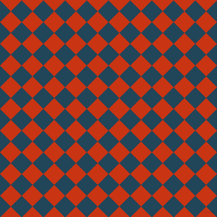 45/135 degree angle diagonal checkered chequered squares checker pattern checkers background, 50 pixel squares size, , Astronaut Blue and Harley Davidson Orange checkers chequered checkered squares seamless tileable