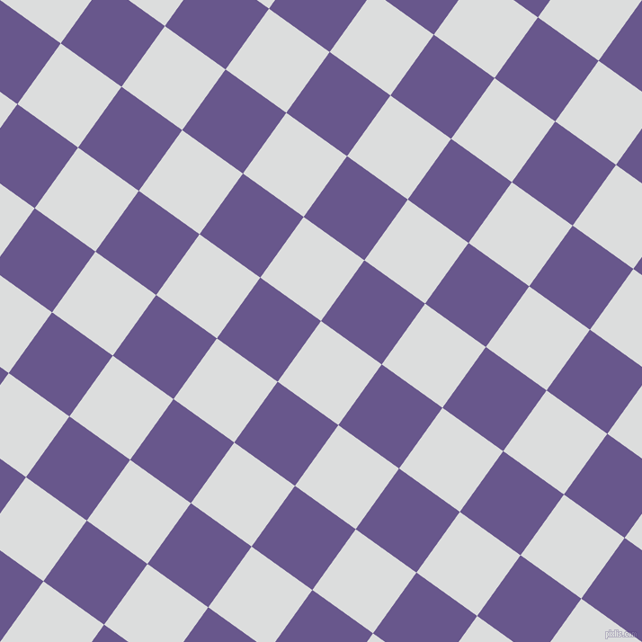 54/144 degree angle diagonal checkered chequered squares checker pattern checkers background, 83 pixel square size, Athens Grey and Butterfly Bush checkers chequered checkered squares seamless tileable