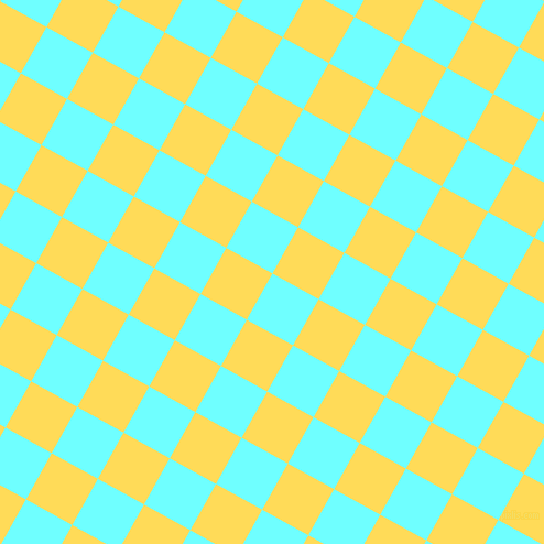 61/151 degree angle diagonal checkered chequered squares checker pattern checkers background, 48 pixel square size, , Baby Blue and Mustard checkers chequered checkered squares seamless tileable