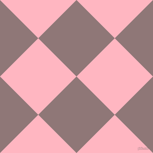 45/135 degree angle diagonal checkered chequered squares checker pattern checkers background, 181 pixel squares size, , Bazaar and Light Pink checkers chequered checkered squares seamless tileable