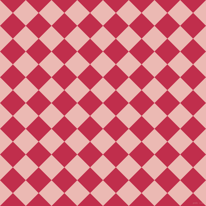 45/135 degree angle diagonal checkered chequered squares checker pattern checkers background, 60 pixel squares size, , Beauty Bush and Old Rose checkers chequered checkered squares seamless tileable