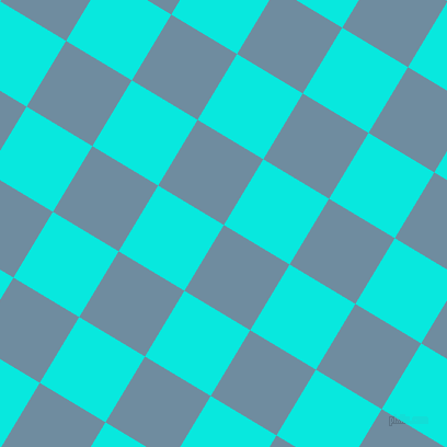 59/149 degree angle diagonal checkered chequered squares checker pattern checkers background, 70 pixel squares size, , Bermuda Grey and Bright Turquoise checkers chequered checkered squares seamless tileable